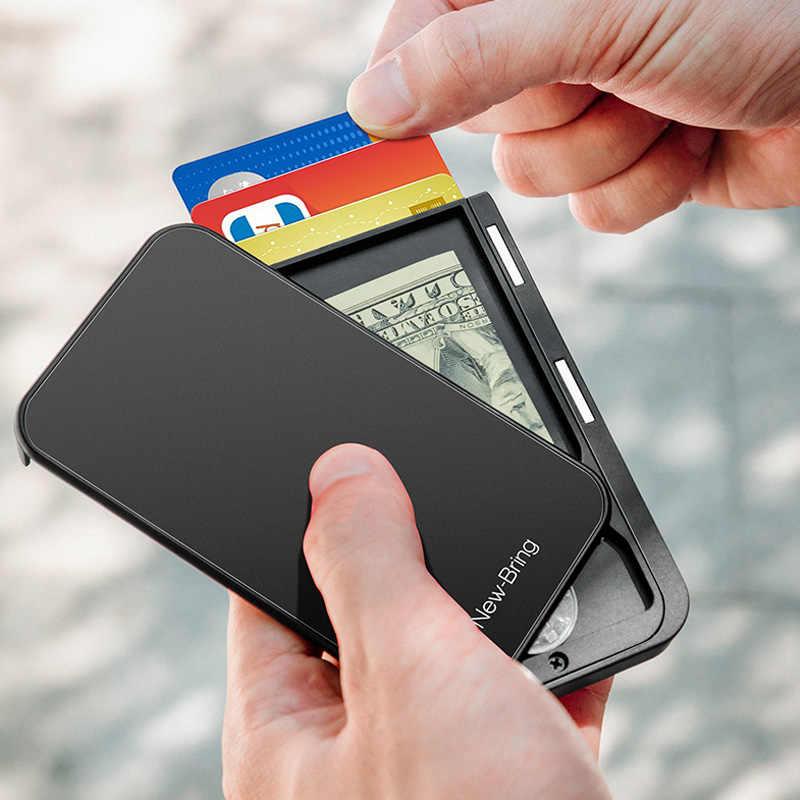 Yeni getirmek kart tutucu erkek çanta karbon Fiber Minimalist Rfid cüzdan kredi kartları banka iş kimlik kartı tutucu kart tutucu kılıf