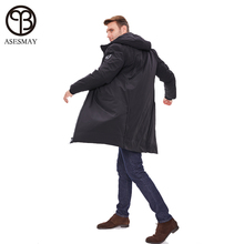 Asesmay brand new arrival men down jacket men coat winter goose feather parka thick hood casual x-long over knee parka jackets