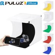 PULUZ 20 см мини-светодиодный светильник студийный коробка тент для фотосъемки белый светильник для студийной съёмки светильник коробка 6 Цвет...