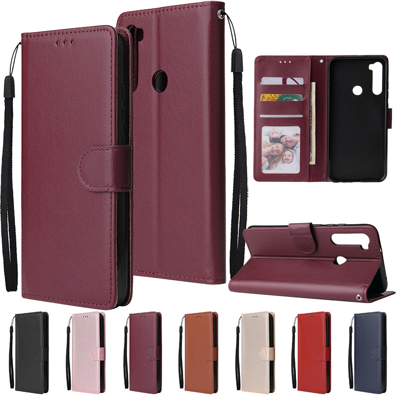 Leather Wallet Case Flip Cover for Xiaomi Redmi Note 8 7 6 5 4 Pro 8A7A 6A 5A 4X 5X 5 Plus Protect Cover