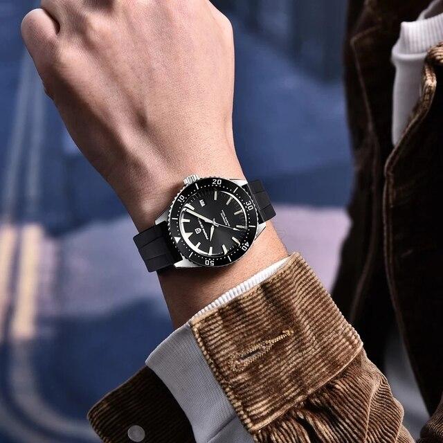 Фото часы pagani design мужские механические брендовые водонепроницаемые