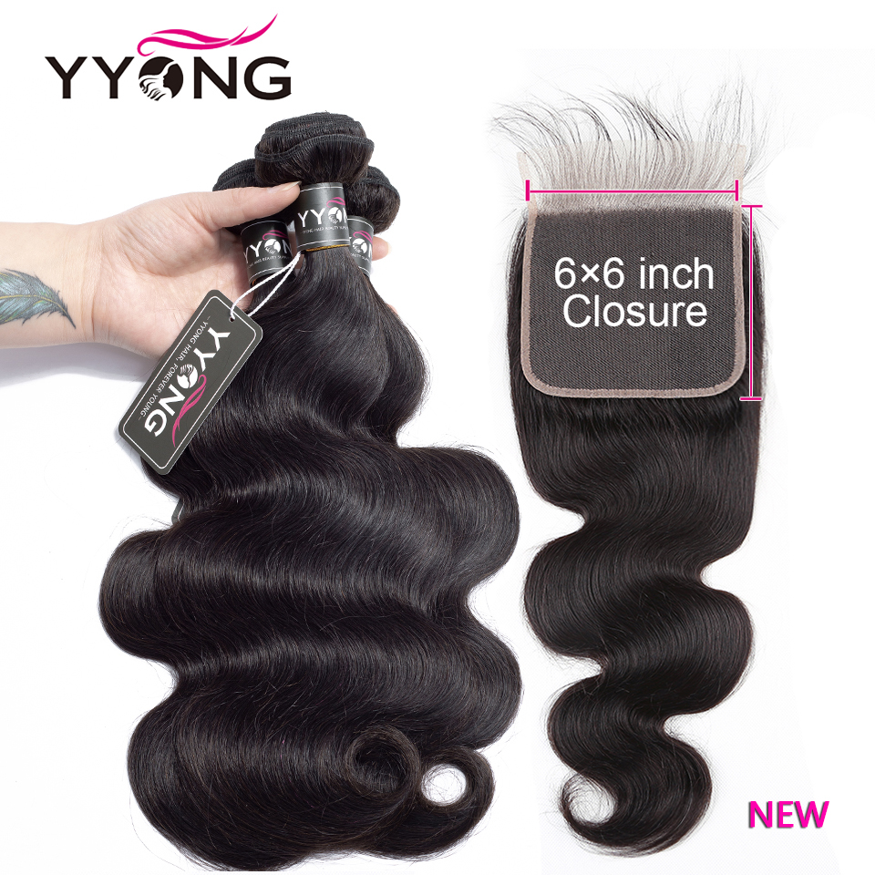 YYONG Hair Body Wave Bundles With 6x6 Closure   Bundles With Closure  Bundles With Closure  1