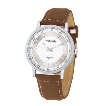 Marca De Lujo 2019 Simple Casual Mujeres Relojes Retro Vintage Hombre Mujer Reloj De Pulsera Amantes Cuero Analógico Reloj De Cuarzo