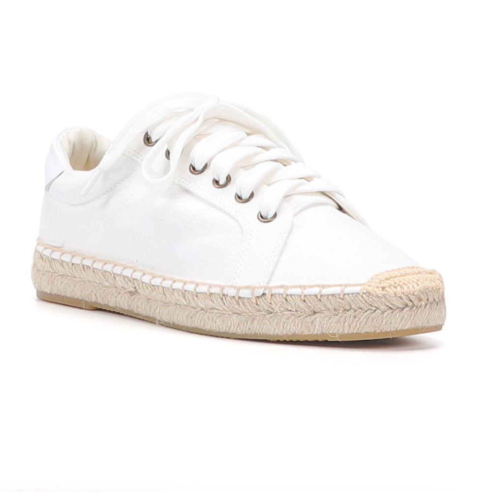 2020 Sale Special Offer Flat Platform Hemp Rubber Lace-up Casual Zapatillas Mujer Casual Sapatos Womens Espadrilles Flat Shoes