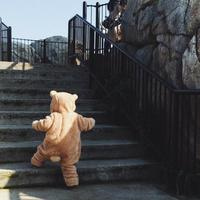 Childrenswear INS Hot Selling Infant Duffy Bear Onesie 2019 New Style Children Autumn And Winter Baby Rompers Climbing Clothes