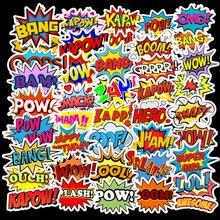 50 Pcs/Lot Custom Stickers Kawaii School Sticky Sticker Papelaria Rock and Roll English Surprise Letter Waterproof TZ112D