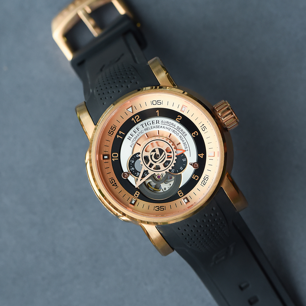 Reef Tiger/RT Top Brand Luxury Sport Watches for Men Mechanical Watch