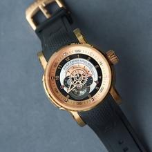 Reef Tiger relojes deportivos para hombre, mecánico, automático, resistente al agua, masculino