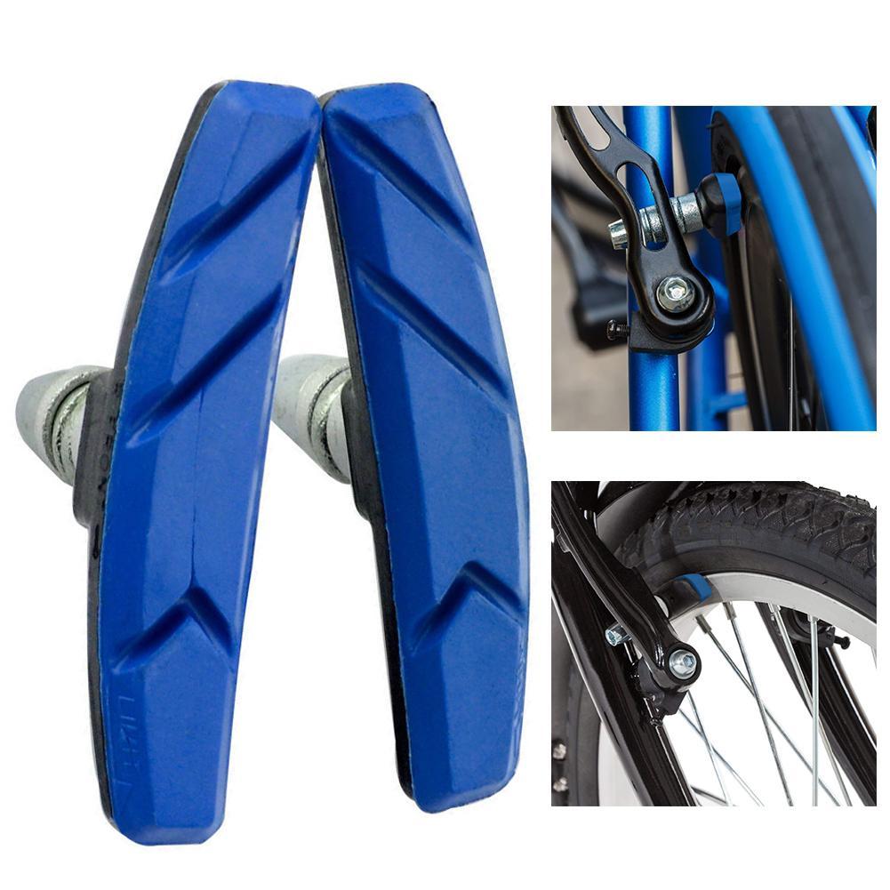 1 Pair V Brake Rubber Blocks Road Cycle Bike Bicycle Mountain Blocks Pads Shoes