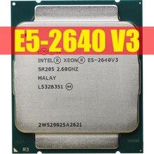 Intel processador xeon e5 2640 v3, processador sr205 2.6ghz 8 núcleo 90w soquete lga 2011 3 cpu e5 2640v3 cpu