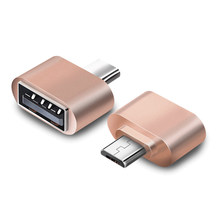 FFFAS Micro USB OTG Adapter OTG Cable Converter for Cellphone Game Film USB Flash Drive Mouse Keyboaed Card Reader Silver Gold(China)