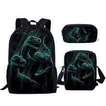 3шт набор рюкзак ребенок девочка мальчик круто животное дракон динозавр школа сумка сумка повседневная дети рюкзак студент сумка