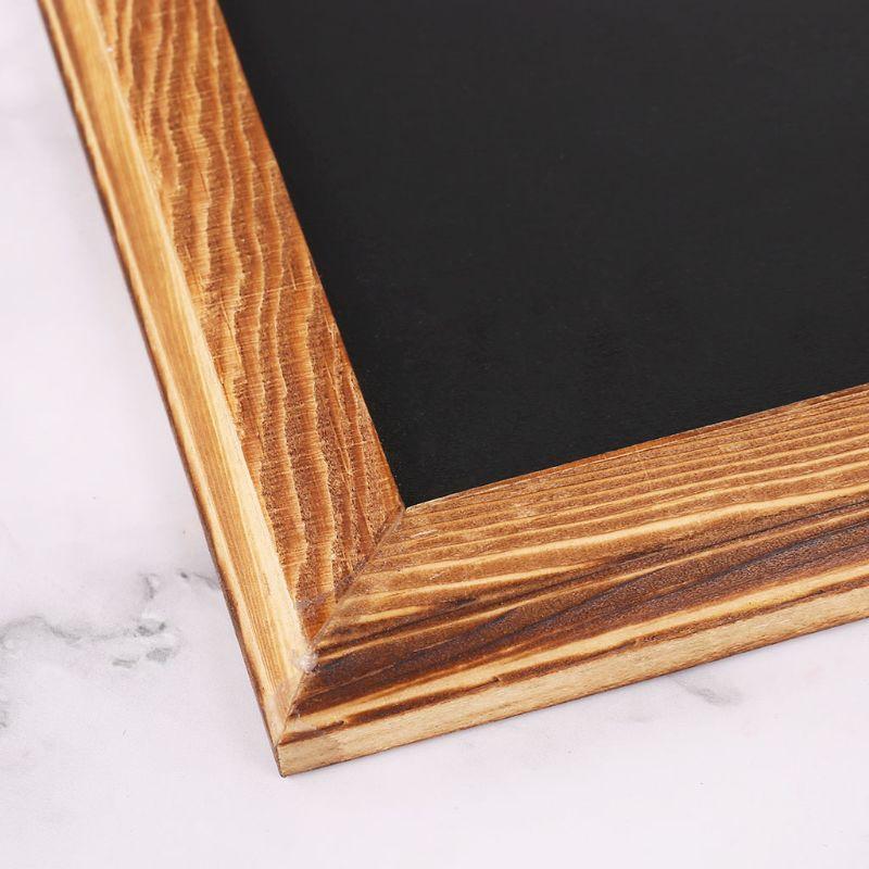 retangulo de madeira pendurado mensagem quadro negro 04