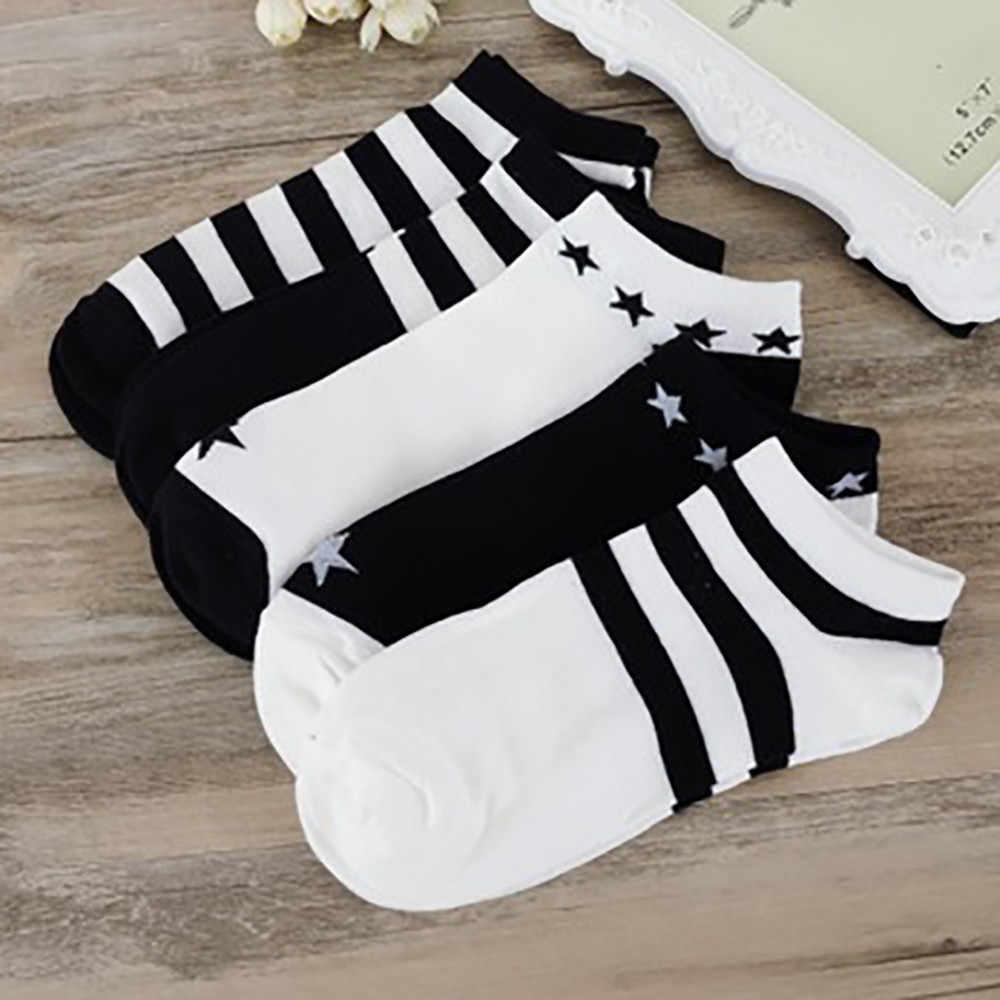 Kadın çorap çizgi film karakteri çizgili çoraplar Harajuku kadın sevimli Unisex kaykay çorap Hipster moda hayvan baskı ayak bileği çorap