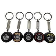 Venda quente pneu chaveiro mini silicone pneu roda carro pingente liga de silicone pneu chaveiro de zinco gel michelin pneu mini modelo