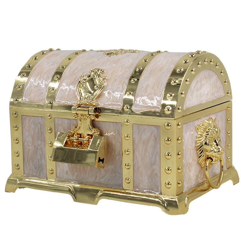 Jewelry Box Retro Craft with Lock Jewelry Box European Creative Pirate Jewelry Box Jewelry Receiving Gift Box