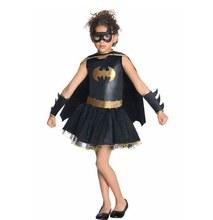 2020 bat meninas traje para crianças tutu vestido traje de halloween (3-9years) 4 pçs/1 conjunto vestido de festa excelente costura