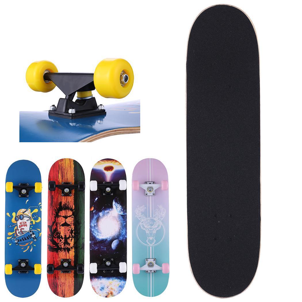 Complete Skate Boards Adult Teens Girls Boys Maple Skateboard for Beginners Aluminum Alloy Anti-Slip Surface Design 6