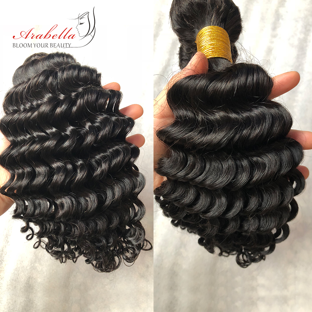 Deep Wave Hair Bundles 3 Pieces Natural Black Color Hair  Arabella  Hair  Bundles 5