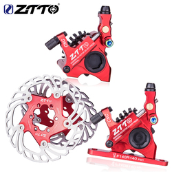 ZTTO Road Bike Line Pulling Hydraulic Disc Brake Calipers Flat Mount Gravel Bicycle Oil Disc Brake with brake rotor
