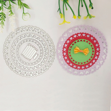 Circle lace circle layered flower decoration metal cutting mold, DIY scrapbook, photo album, relief card, handicraft mold.