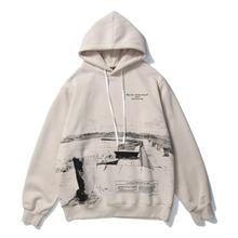 Флисовый Пуловер с принтом чернил для мужчин и женщин Повседневная