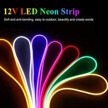 Led şerit 12V su geçirmez 2835 120Led/m şerit Led Neon ışık şeridi 12V IP67 beyaz/sıcak beyaz kırmızı yeşil mavi pembe sarı Led bant