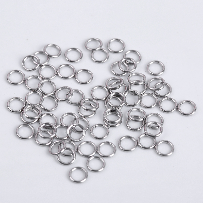 200Pcs/Lot Stainless Steel Open Jump Rings Split Rings For DIY Jewelry Making Connector Accessories Supplies