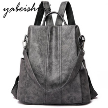 New Backpack Women Leather Multifuction Bagpack Casual Anti Theft Backpack for Teenager Girls Schoolbag 2019 Sac A Dos mochila