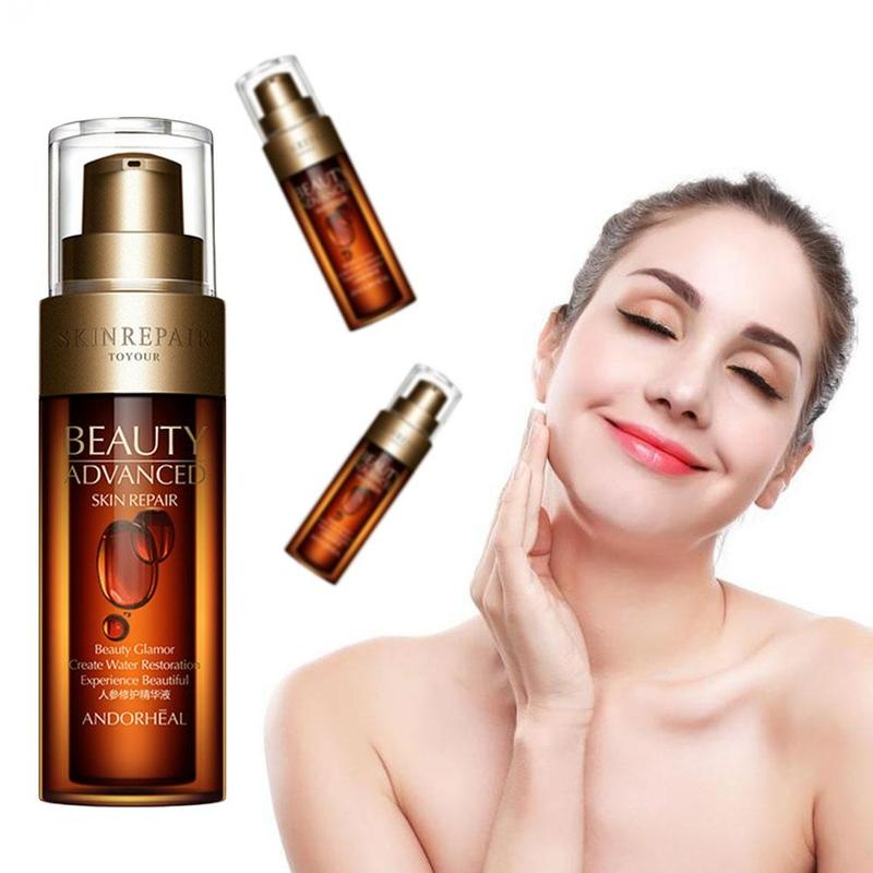 50ml Hyaluronic Acid Ginseng Anti Wrinkle Face Serum Vitaminis Collagen Pore Minimizer Moisturizing Firm Aging Skin Care image