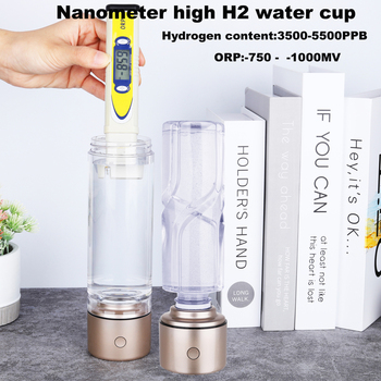 Nano High Hydrogen Rich Water Generator Machine ORP SPE Alkaline H2 Bottle/Cup Electrolysis Lonizer Respirator USB Rechargeable high accuracy orp