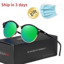 Unisex Browline Round Sunglasses Womens Polarized Fashion Sun Glasses for Women