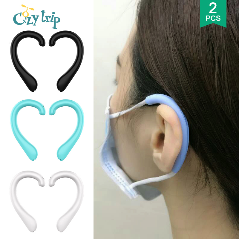 1Pair Anti Pain Face Mask Ear Protector Soft Silicone Protective Ears Mask Rope Cover Face Mask Band Cover Mask Accessories