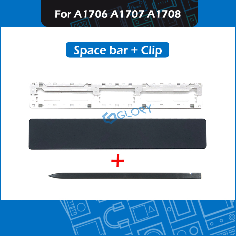 Laptop A1706 A1707 A1708 Space Bar Key Cap Keys for Macbook Pro Retina 13 15 Late 2016 Mid 2017 Keycap w/ Clip Repair Keyboard image