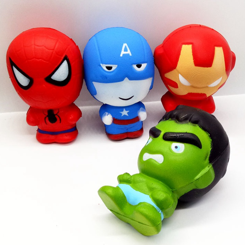 Superhero Squishy Miracle Infinite War Avengers Hulk Iron Man Captain America Slowly Rising Vent Decompression Giant PU Squishie
