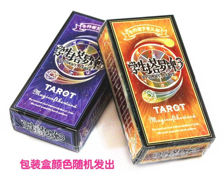Student Tarot Card 3 Table Game Card Classic Divination Recreational Party Desktop Game Portable Tarot Card