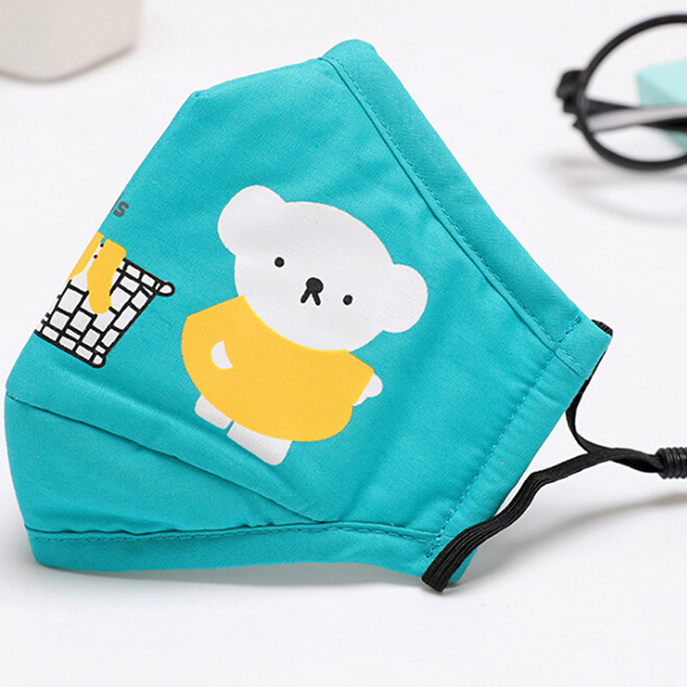 1Pcs Mouth Mask Children Kids Thicken Cotton Face Mouth Mask Anti Dust Pollution PM2.5 Mask Cute Bear Cartoon Animal