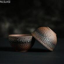 Vintage handmade ceramiczny filiżanka styl japoński Retro kubek do herbaty kamionka zestaw herbaty domu miseczka na herbatę mistrzowski puchar