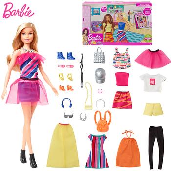 Oryginalne akcesoria Barbie moda Barbie sukienka ubrania Barbie spódnica bluzka koszula spodnie ubranka dla lalki zabawka dla dziewczynek prezent urodzinowy tanie i dobre opinie 4-6y 7-12y 12 + y CN (pochodzenie) GFB82 cartoon Dıy Toy Mini Model Film i telewizja FASHION DOLL Interaktywne lalki none