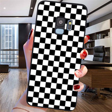 2020 fashion Plaid Checked For Samsung Galaxy S6 S7 Edge S8 S9 S10 Plus Lite Note 8 9 10 A30 A40 A50 A60 A70 M10 M20 phone Case chocolates design glass case for samsung s7 edge s8 s9 s10 plus s10e note 8 9 10 a10 a30 a40 a50 a60 a70