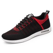 2020 wiosna lato nowe trampki mężczyźni buty mężczyźni oddychające sportowe na zewnątrz buty sportowe mężczyźni dorośli trenerzy sznurowane mężczyźni Sneakers tanie tanio NoEnName_Null Mesh (air mesh) Fabric Rzym GEOMETRIC Dla dorosłych Wiosna jesień tenis masculino adulto baskets hommes size 39 40 41 42 43 44