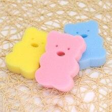 3 шт., милые губки для душа для новорожденных, Детские банные щетки для малышей, Хлопковое полотенце для мытья тела, аксессуары