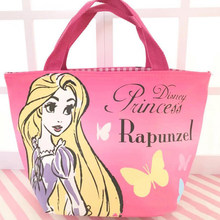 1pc cute Cartoon Mermaid Long Hair Princess Handbag Lunch Bag Multi-functional Shopping shoulder bag figure toy gift(China)