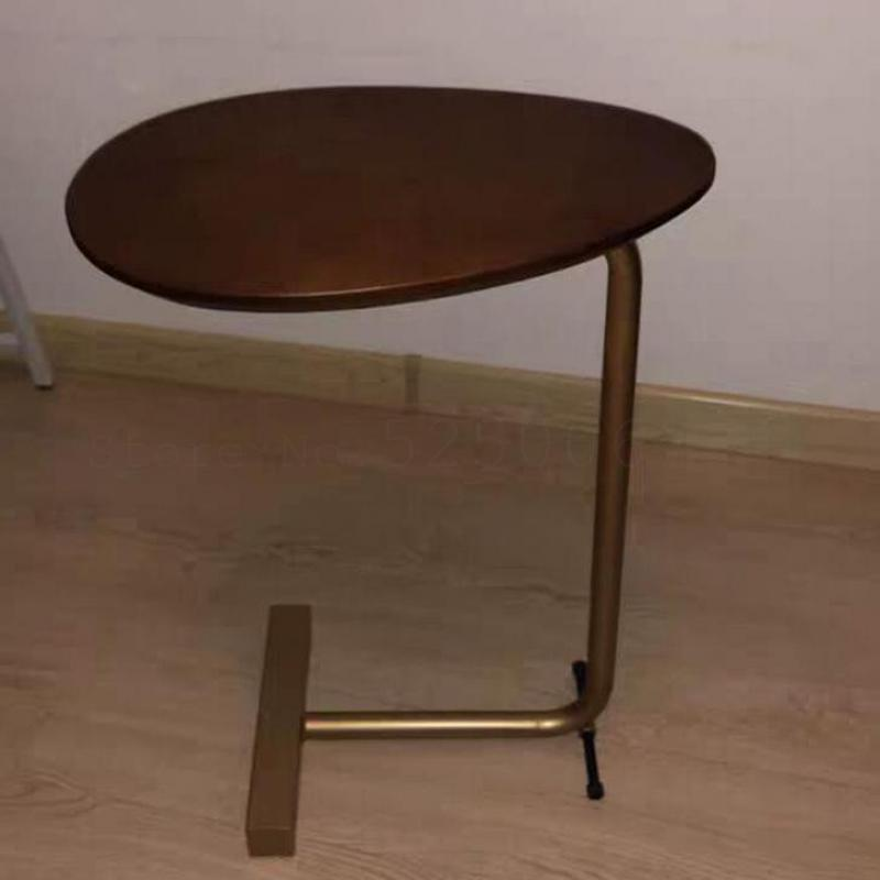 Nordic Real Wood Small Tea Table Is Contracted And Contemporary Bedroom Bedside Table  Wrought Iron Oval Mini Corner Sofa A Few|  - title=