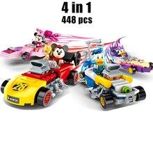 Kids Toy Model-Blocks Building-Model Technic Movie Mickey Minnie Disney Speed-Cars Classic