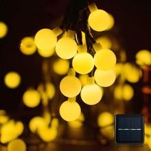 20/50/100 LED Solar Power Ball Outdoor Garden Decoration String Lights Xmas Fairy Light Round Ball Lamp Warm White/Blue/RGB/Warm 10 led solar power lantern shaped string light fairy xmas garden lamp for outdoor holiday decoration