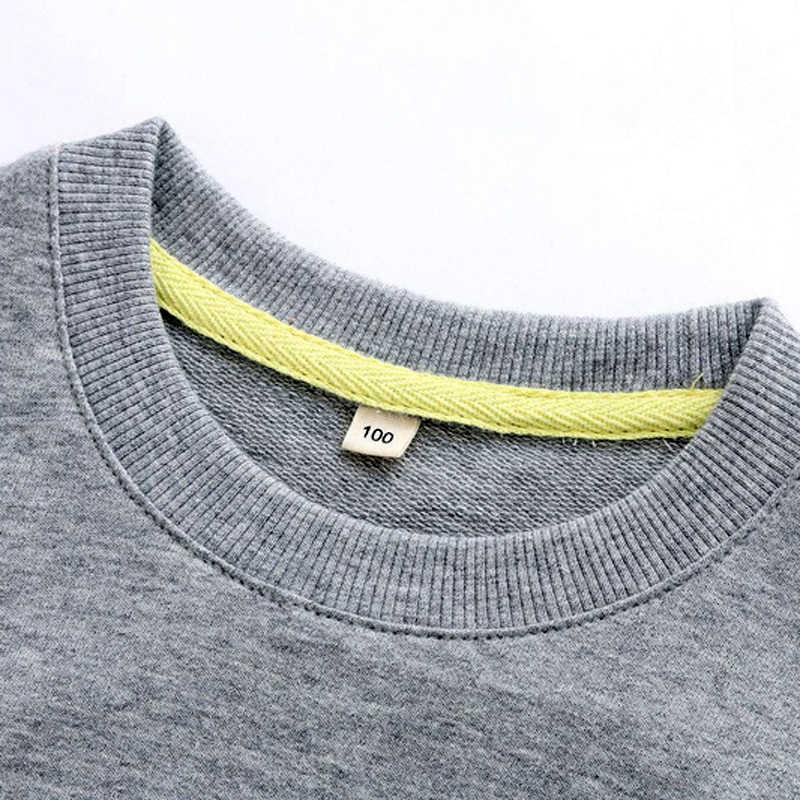 새로운 만화 소년 소녀 스웨터 코튼 키즈 티 셔츠 청소년 봄과 가을 옷