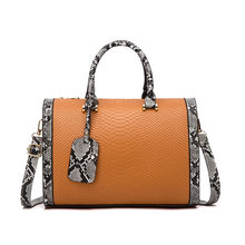 Boston girls' bag 2021 new fashion Korean style snake pattern tramp bag versatile one shoulder cross pillow bag