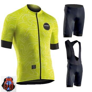 Verano 2019 NW ciclismo Jersey 9D babero conjunto MTB North Wave ropa...