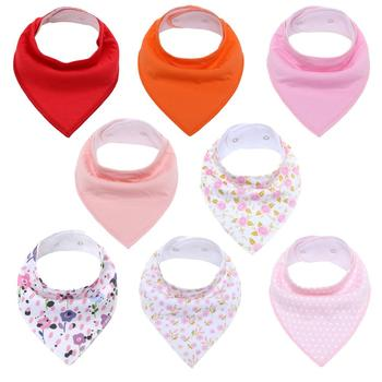 8Pcs Baby Bandana Drool Bibs Unisex Bibs Gift Set for Drooling and Teething Organic Cotton Soft & Absorbent Hypoallergenic Bibs premium baby bandana bibs extra soft natural cotton baby drool bib for drooling and teething super absorbent baby shower gift